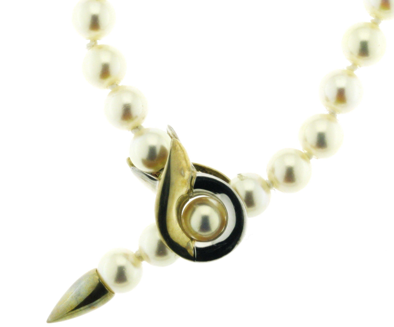 Varioschließe für Perlketten 925/- bicolor