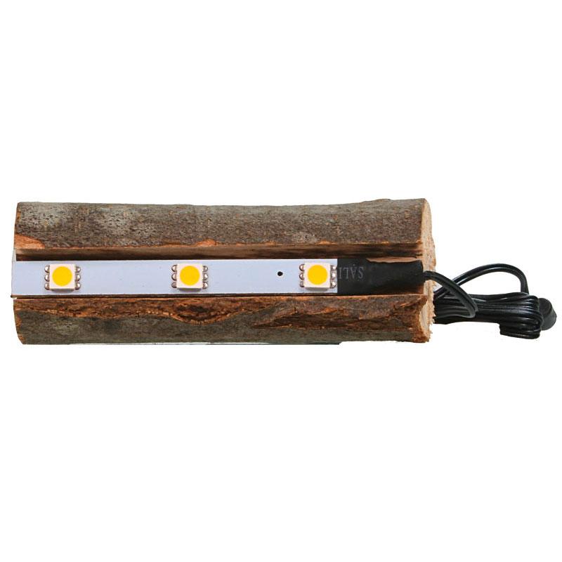 Baumstamm mit indirekter LED-Beleuchtung