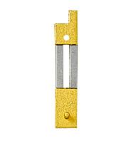 Pendelfeder mit Metall-Beschlag Stift-/Loch-Abstand:15 L:22mm B:4mm