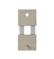 Pendelfeder mit Metall-Beschlag Stift-/Loch-Abstand:13 L:18mm B:8mm