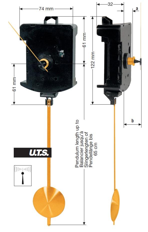 Tijdsein gestuurd Slingeruurwerk FP UTS 700, ZWL 12mm