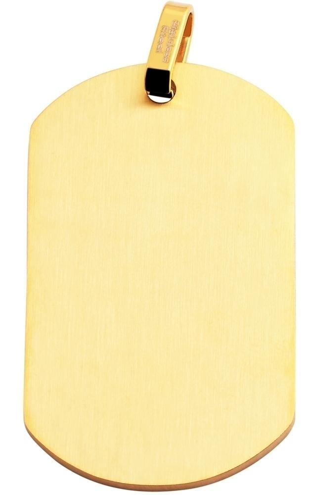 hanger gravure edelstaal goud 29x49mm