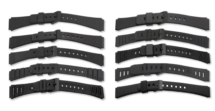 Kautschukbänder-Set 18-20mm schwarz
