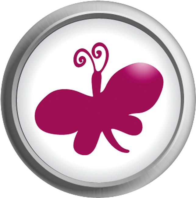 Erstohrstecker Easy Piercy weiß Novelty Motivstecker Schmetterling Comfort