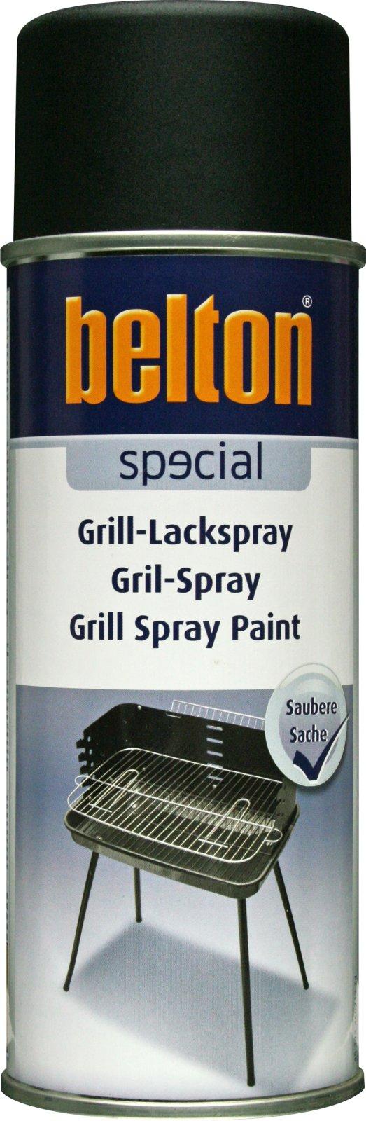 belton Grill Spuitlak mat zwart - 400ml