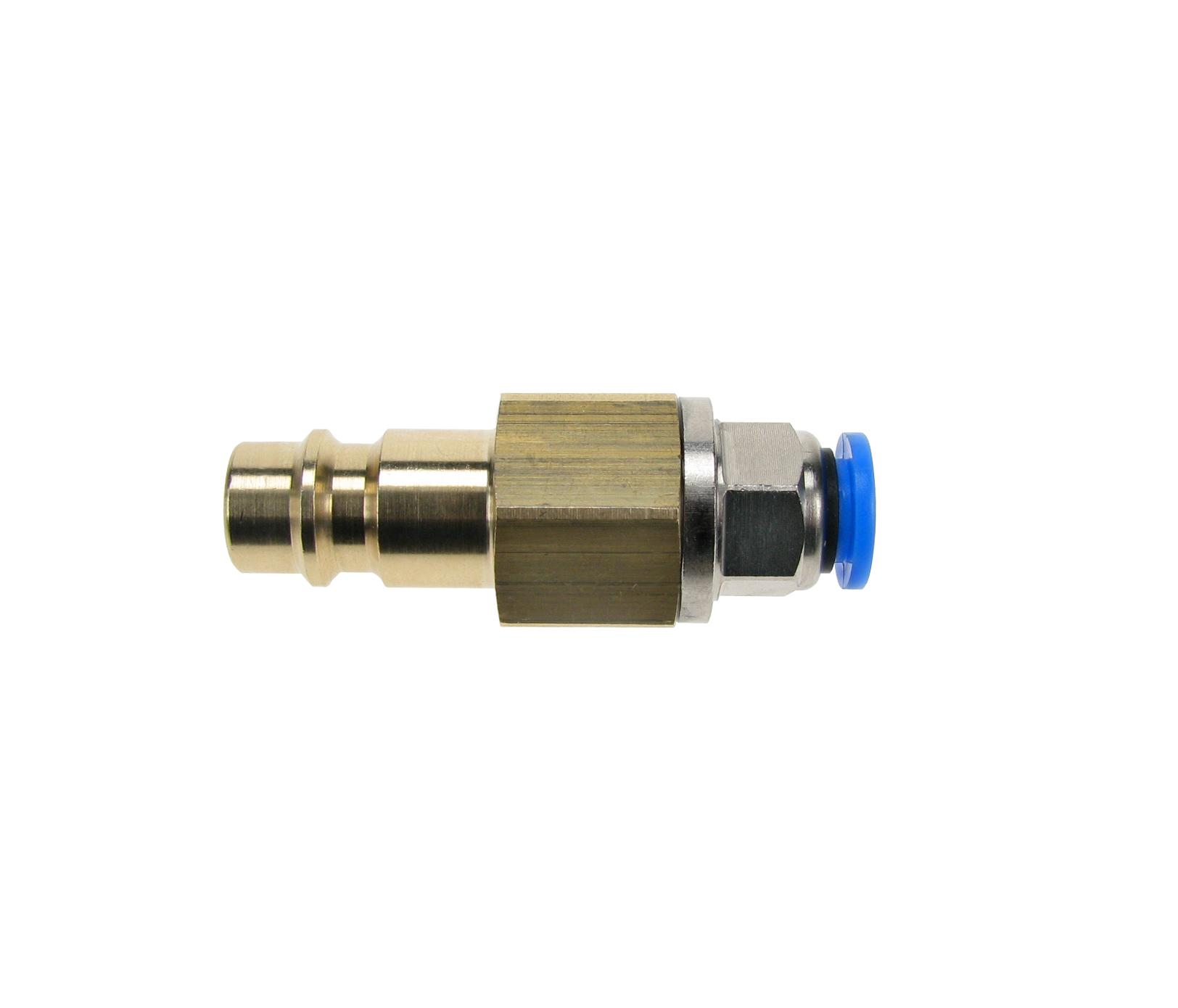 Stecker für Schnellkupplung DN 7,2 mit Schlauchschnellkupplung für Schlauch-Außen-Ø 6 mm