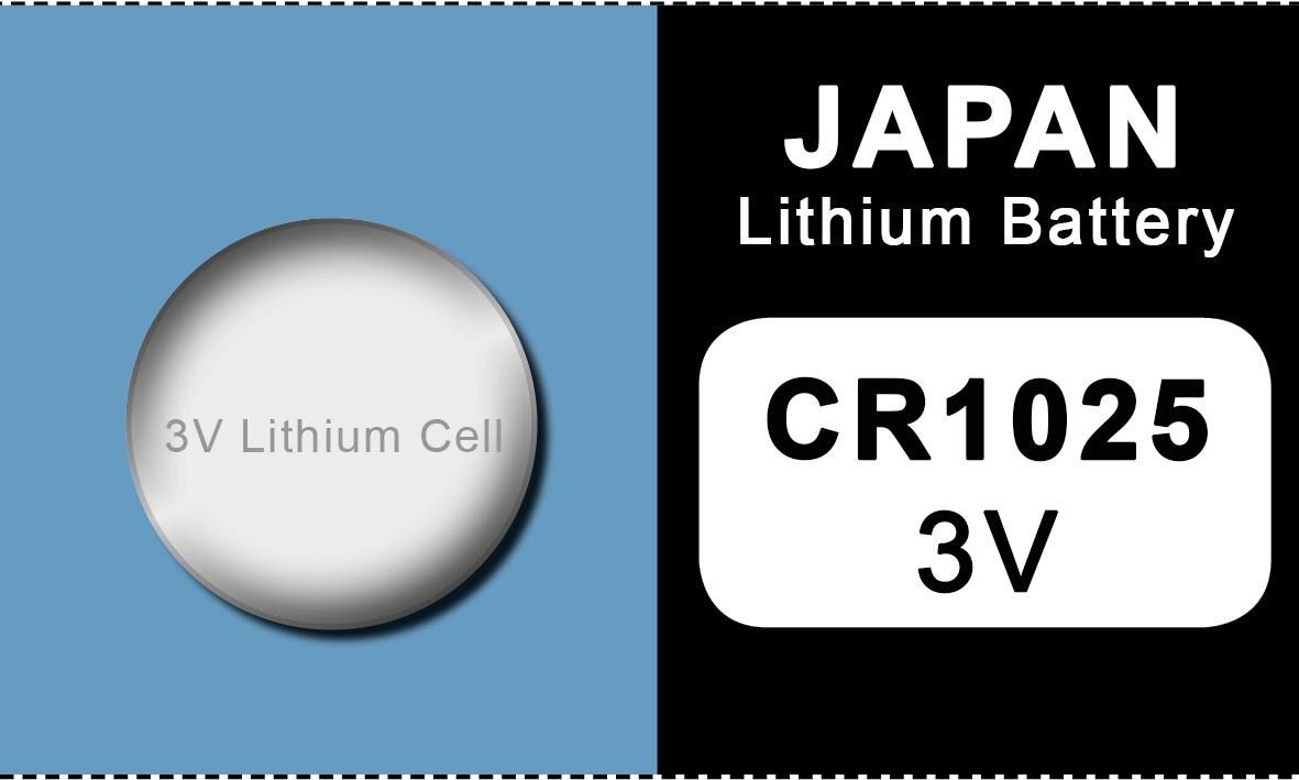 Japan 1025 lithium knoopcel