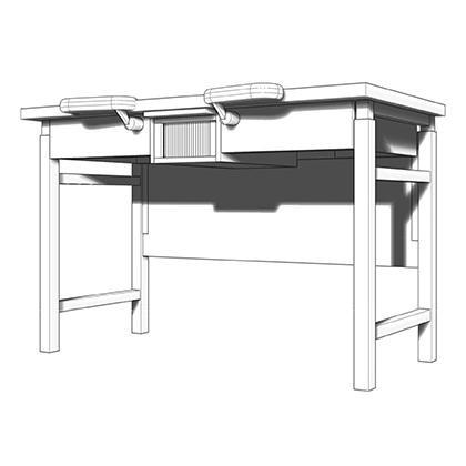 BENCHALIST Uhrmachertisch Modular II, 3D-Armauflagen, elektrisch