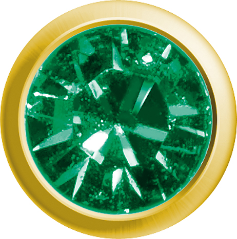 Erstohrstecker Easy Piercy Classic Ø 2,95 mm vergoldet Mini Smaragd