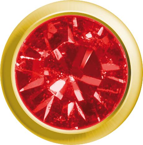 Erstohrstecker Easy Piercy Classic Ø 2,95 mm vergoldet Mini Rubin