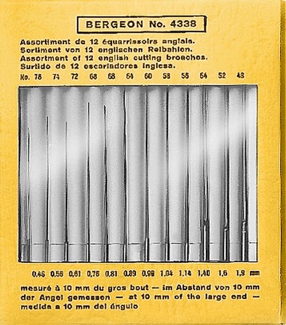 Reibahlen-Satz Ø 0,46 - 1,90mm Bergeon