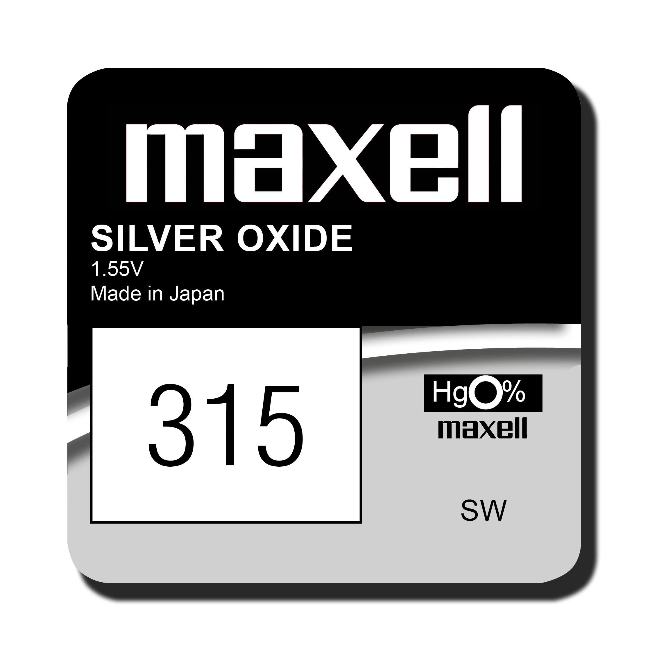 Maxell 315 knoopcel