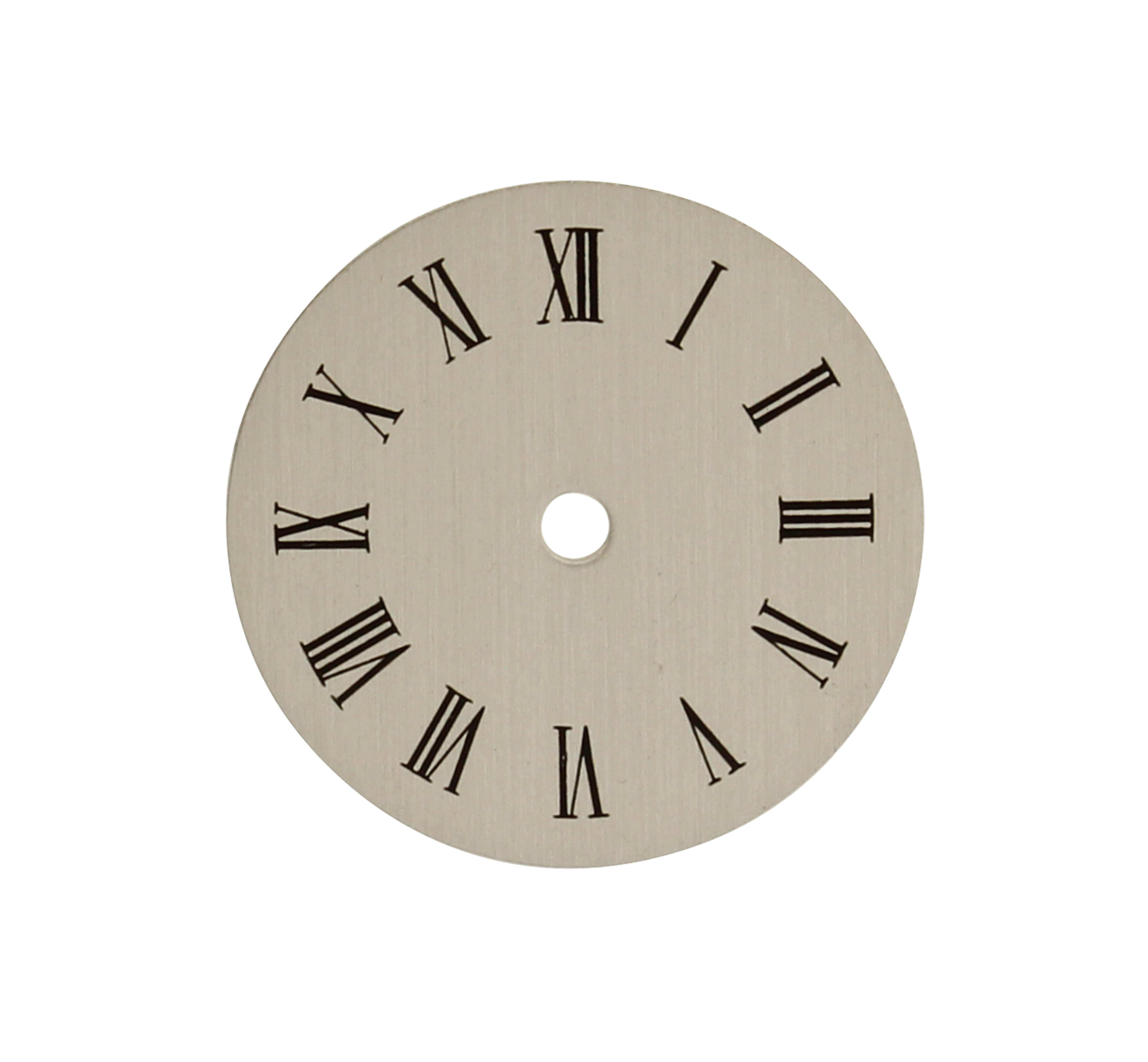 AS 1977 wijzerplaat Ø 16 mm zilver/Rom. cijfers