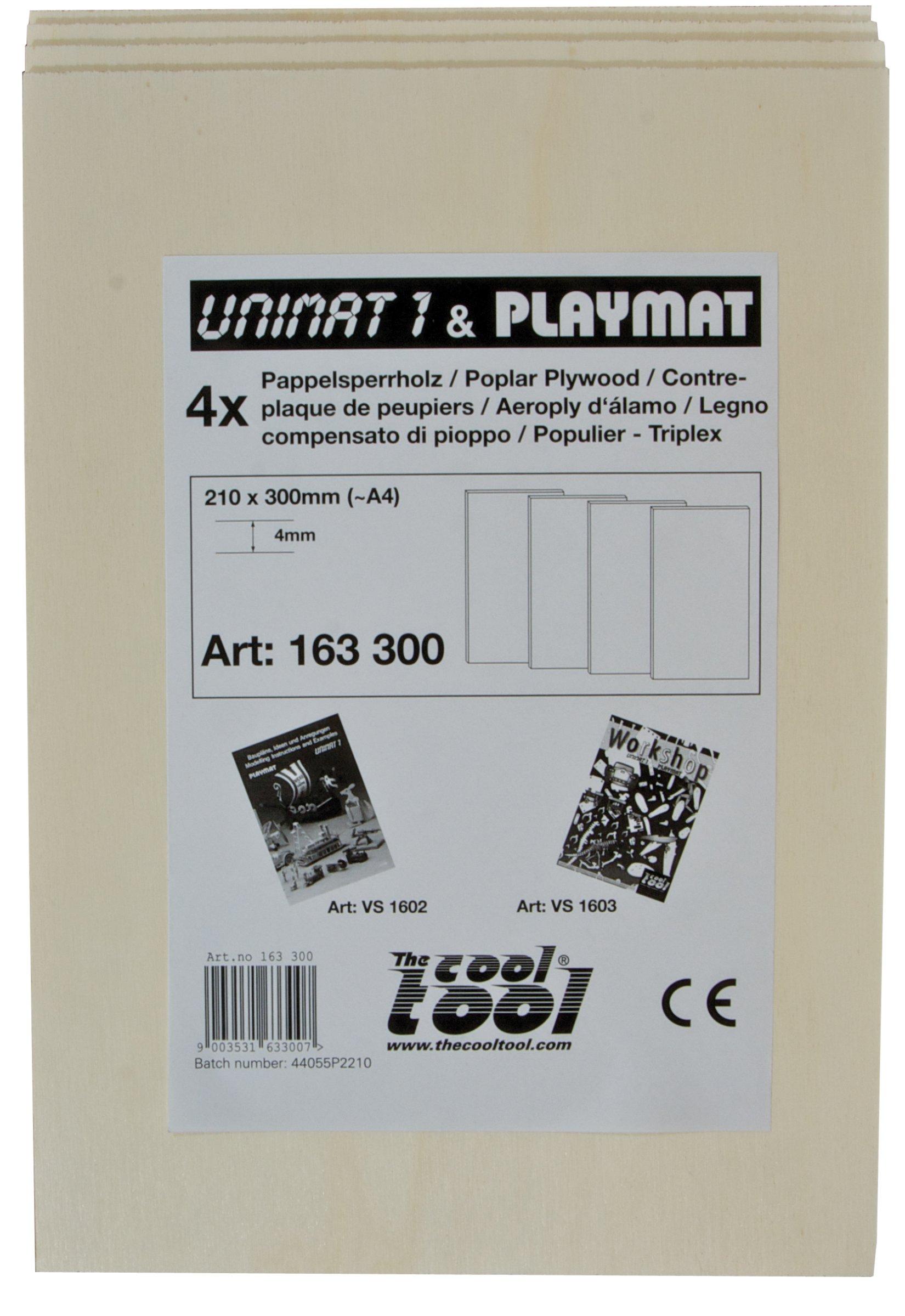 PLAYMAKE Pappelsperrholz 4mm, 4 Stk.