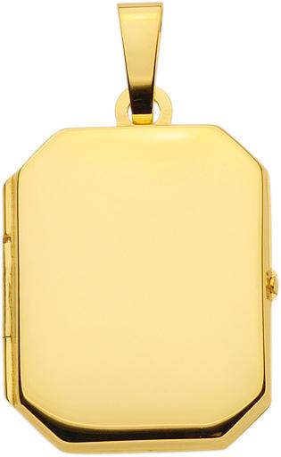 medaillon goud 333/gg hoekig