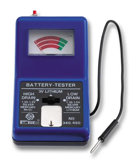 Batterijtester standaard