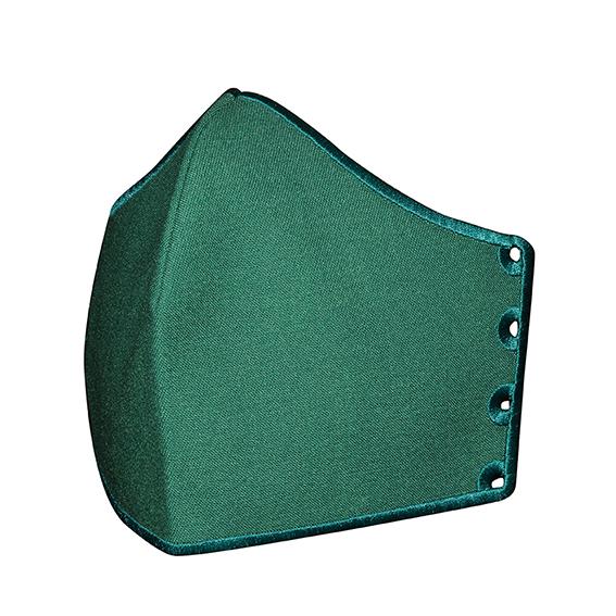 Mund-Nase-Bedeckung My Happy Curve unbestickt, dunkelgrün