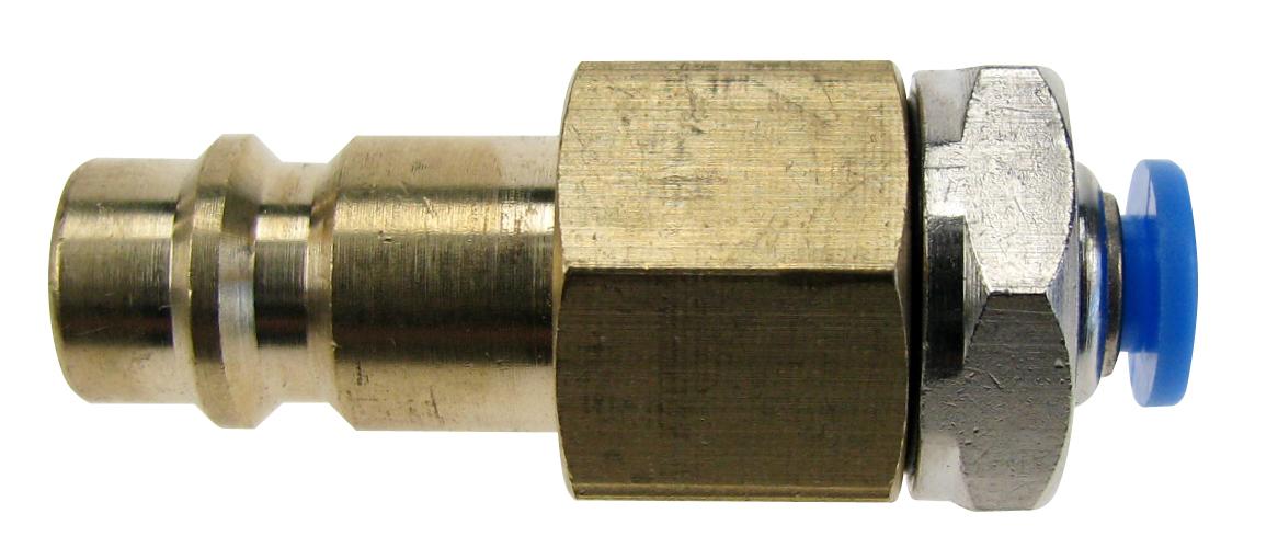 Stekker voor snelkoppeling DN 7,2 met slangsnelkoppeling voor slang buitenkant Ø 6 mm