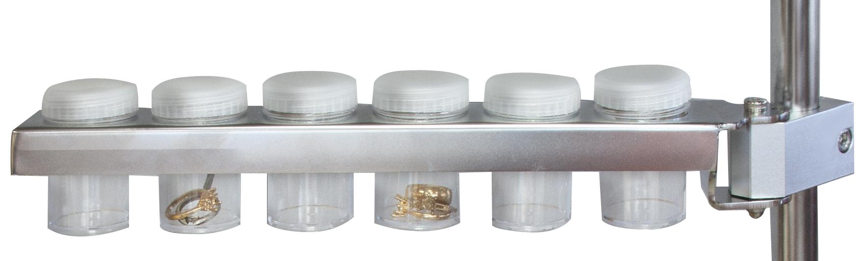Haltearm mit 6 Kleinteildosen