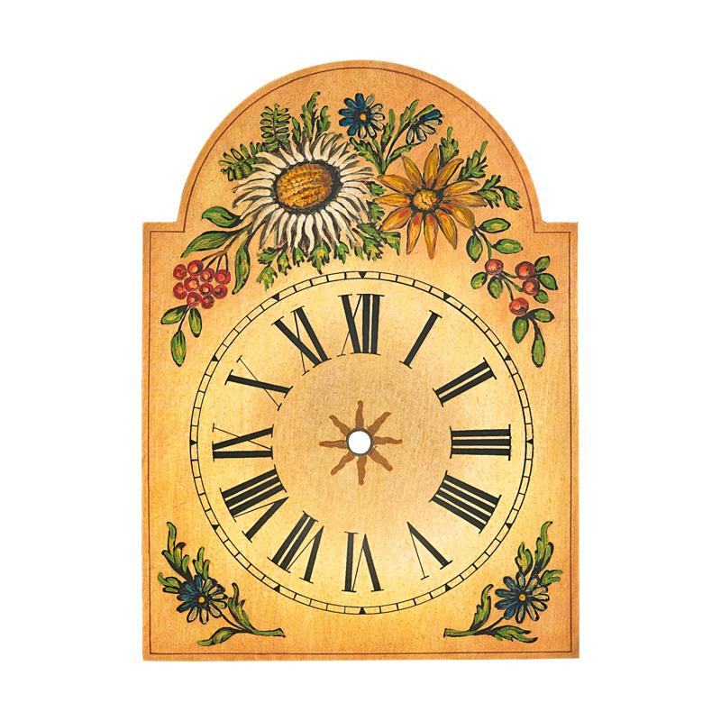Uhrschild mit Distel-Dekor 75x115mm