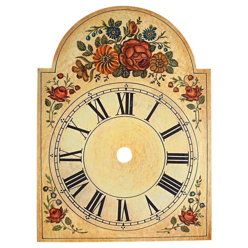 Uhrschilder mit Blumendekor 75x115mm