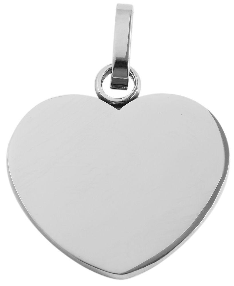 hanger gravure edelstaal basic Akzent zilver 26 x 28mm Hart