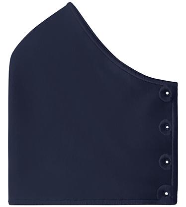 Mond- en neusmasker HappyCurve met individueel gestikt logo, donkerblauw