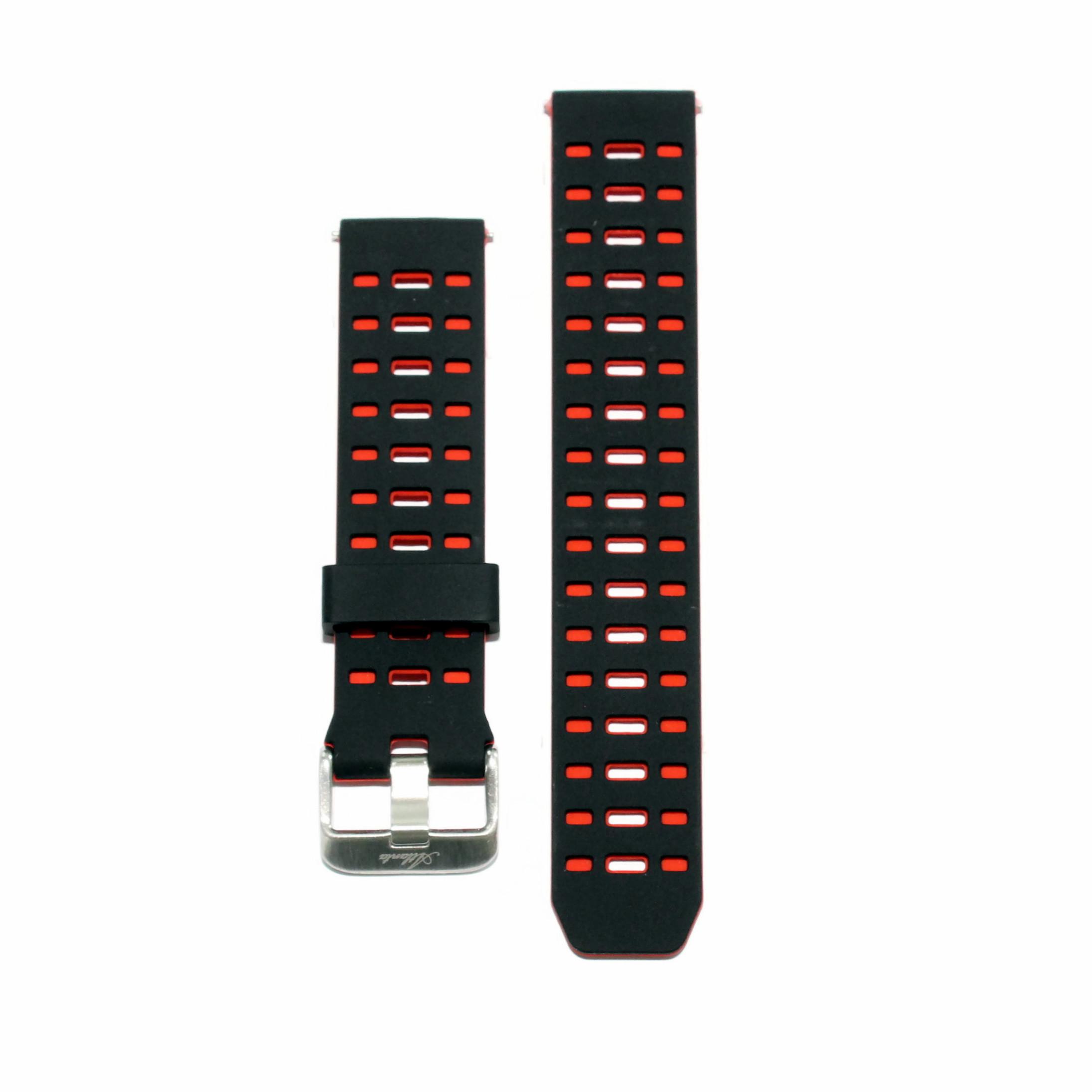Ersatzarmband für Fitnesstracker rund, rot-schwarz