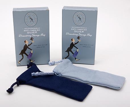 Schutztasche mit Kordelzug für Silberbesteck
