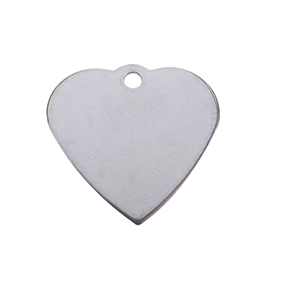 graveerplaatje edelstaal hart