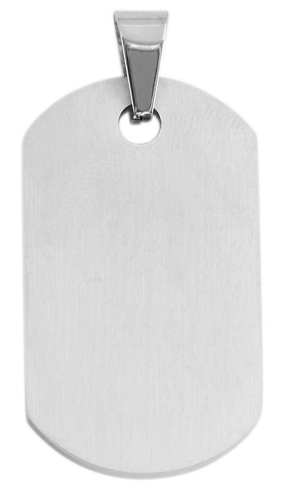 hanger gravure edelstaal basic Akzent zilver 22 x 38mm