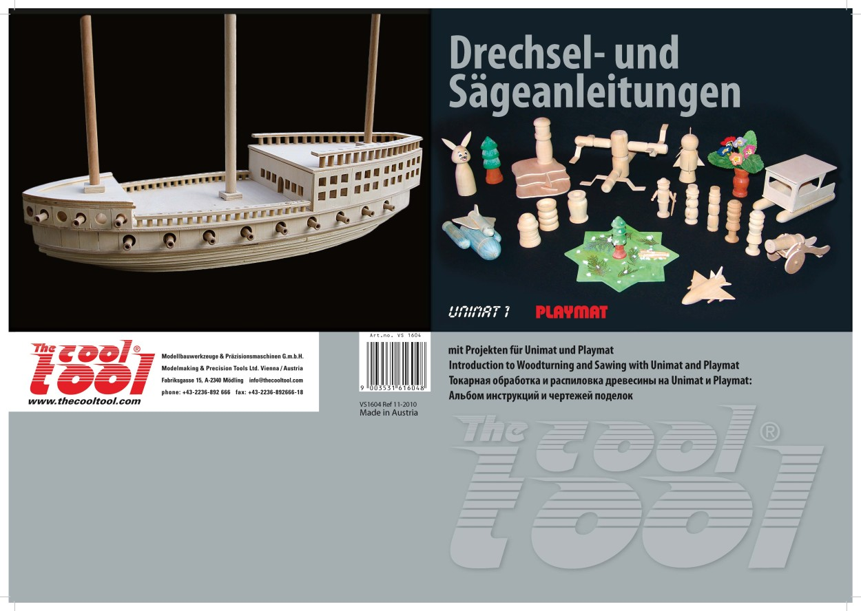 Buch Drechsel- und Sägeanleitungen für Modellbau-Werkzeuggrundkasten