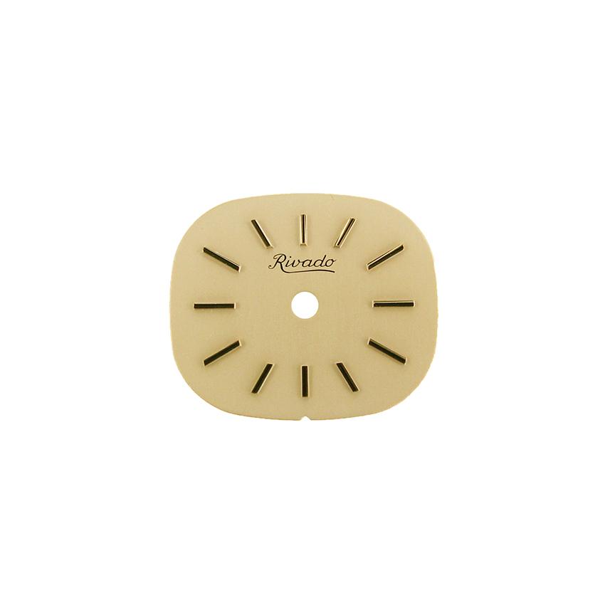 AS 1977 wijzerplaat geel, 17,8 x 15,2
