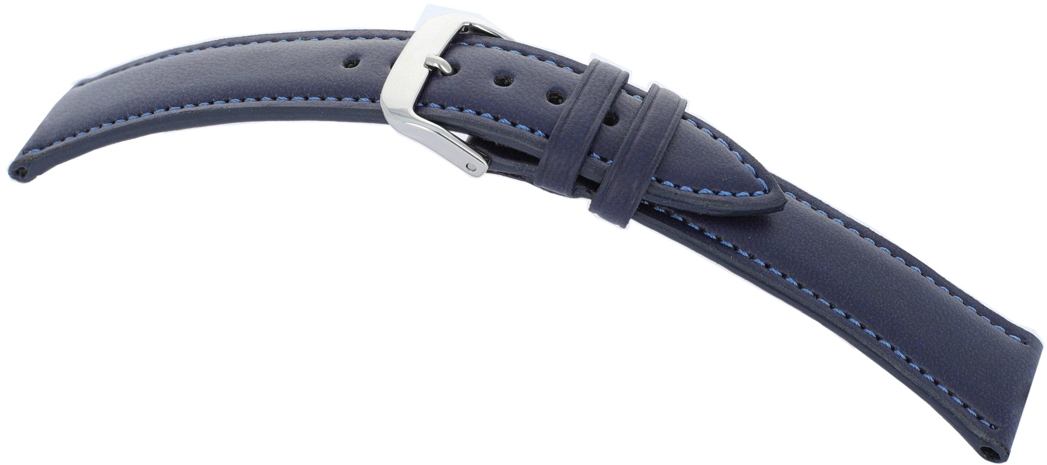 Lederband Lazise 14mm ozeanblau vegan