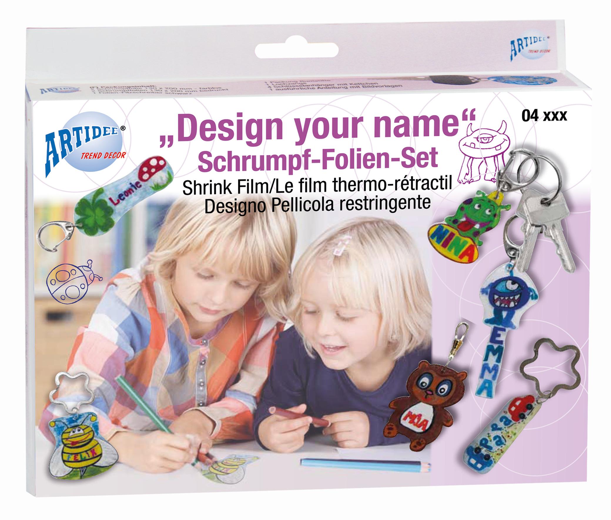 Schrumpffolien-Set Design Your Name