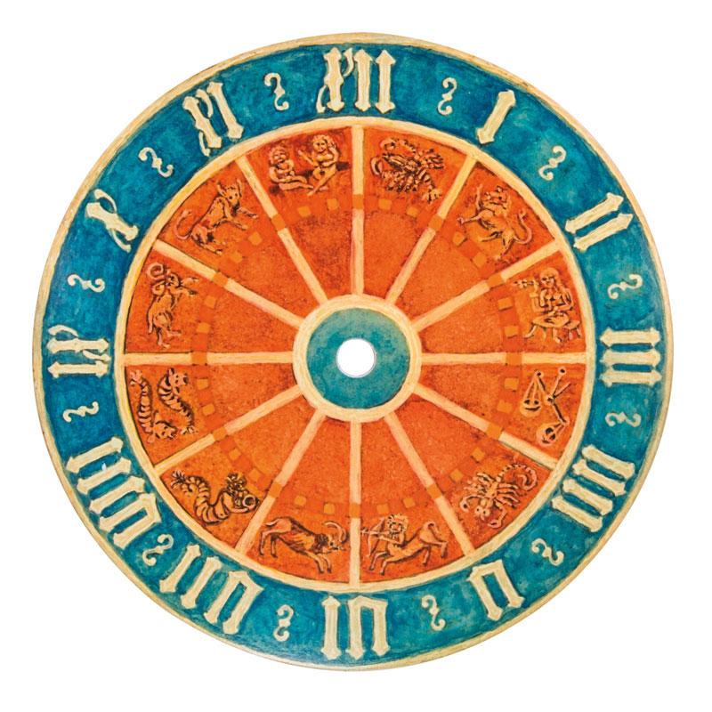 Uhrschild Freiburger Münster Ø 20 cm