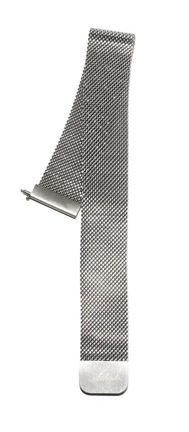 Ersatzarmband für Fitnesstracker rund, Mesh silber