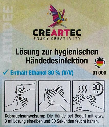 Desinfectiemiddel voor de handen, 1000 ml