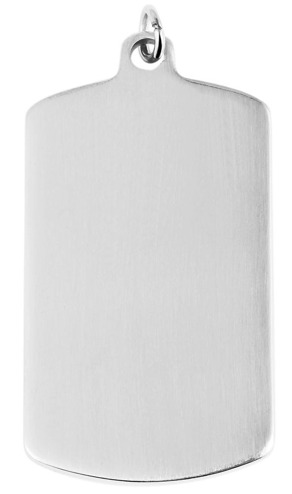 hanger gravure edelstaal basic Akzent zilver 29 x 49mm