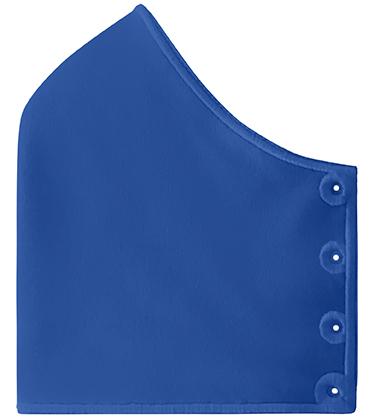 Mond- en neusmasker HappyCurve zonder gestikt logo, koningsblauw
