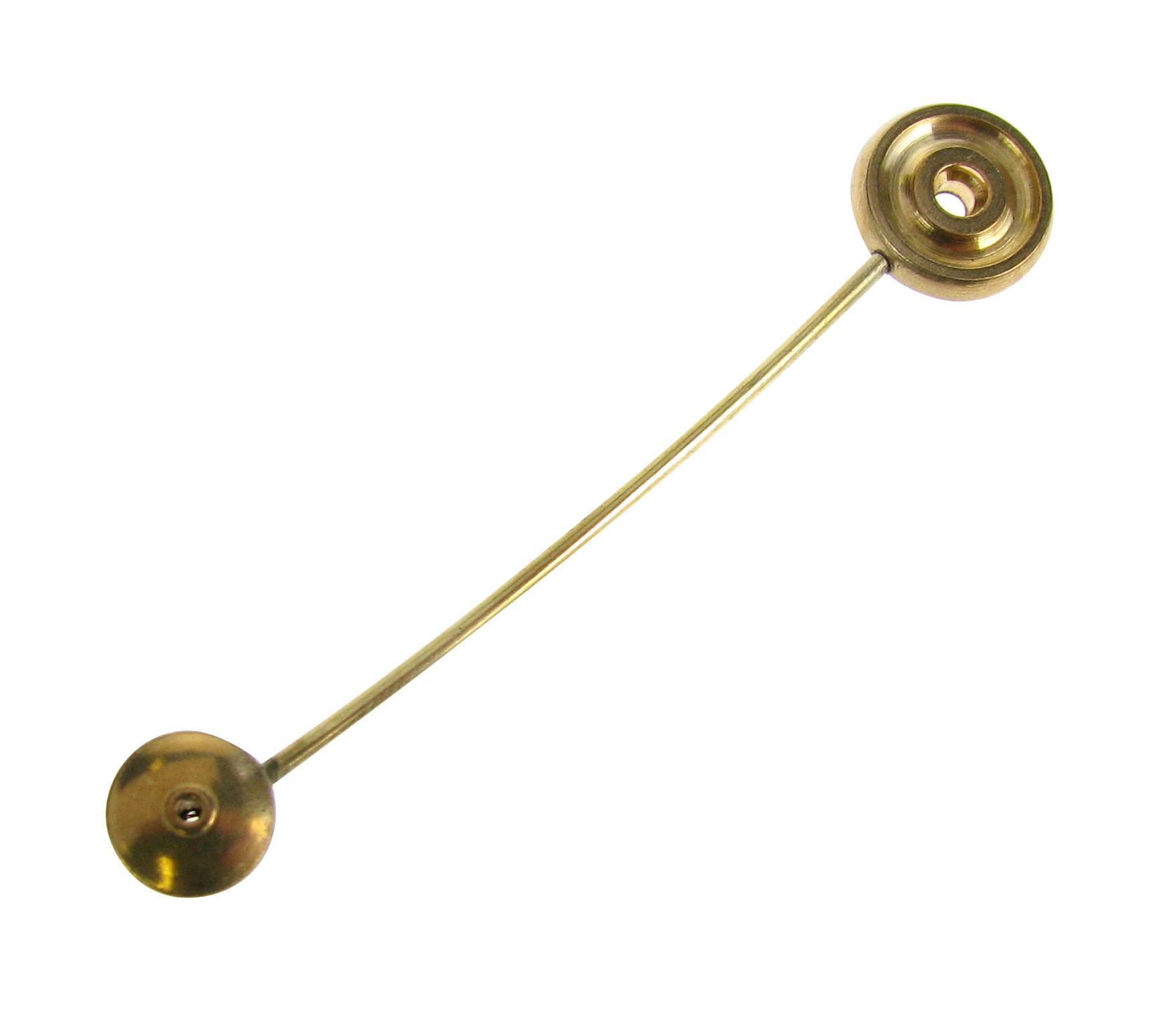 Bel hamer recht voor Franse pendules L:56 mm