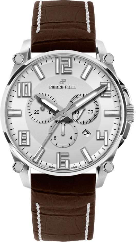 Pierre Petit Chronograaf Le Mans zilver - Swiss Made