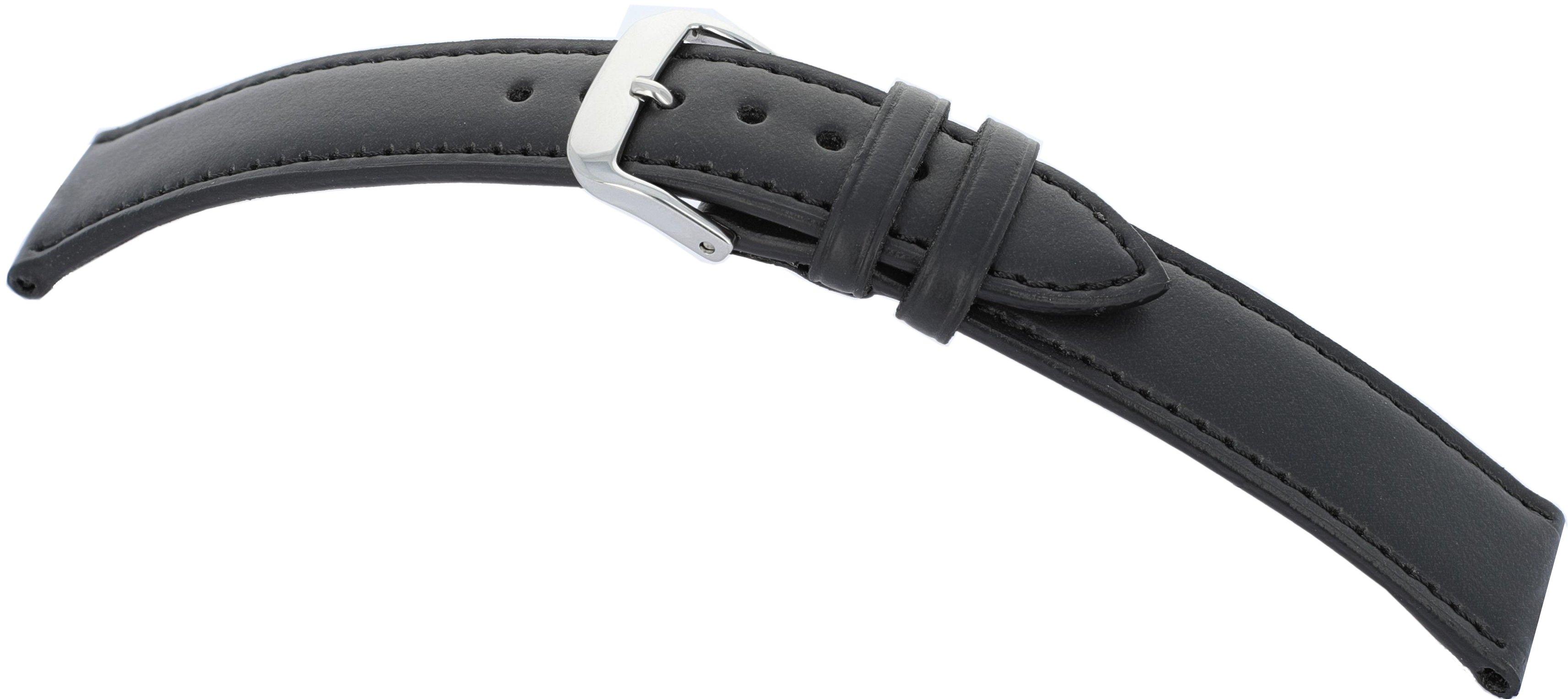 Lederband Lazise 14mm schwarz vegan