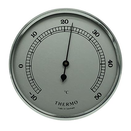 Thermometer Einbau-Wetterinstrument Ø 85mm, silber