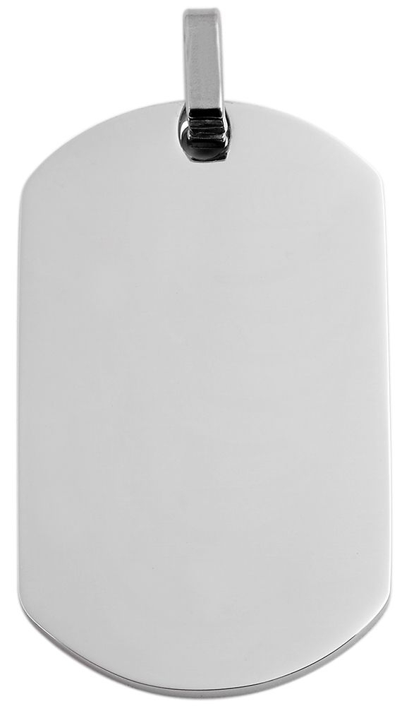 hanger gravure edelstaal basic Akzent zilver 29 x 50mm