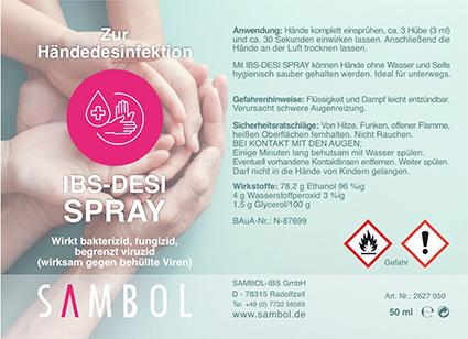 Desinfektionsspray für die Hände, 250ml