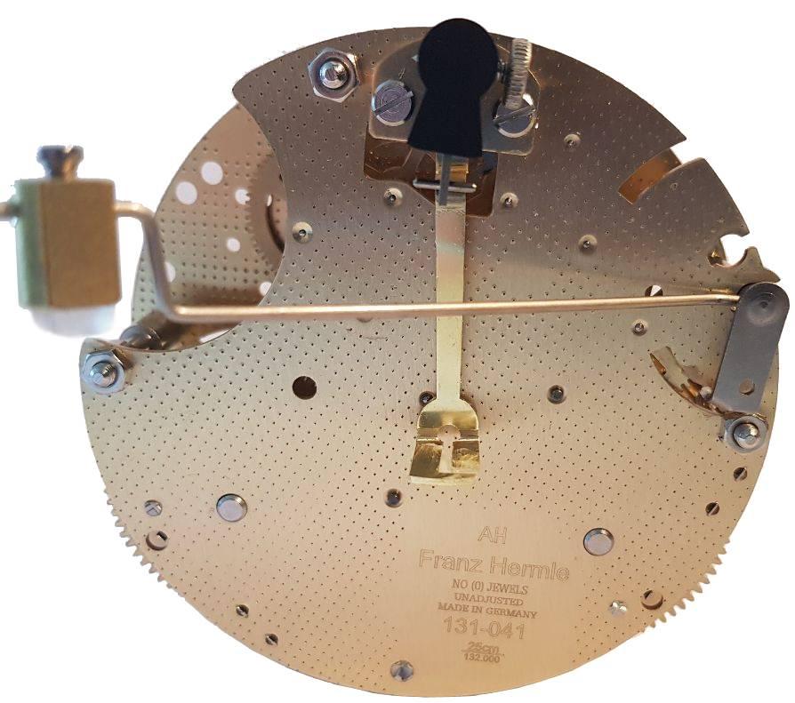 Tischuhrwerk Hermle 131-041, 8-Tage, Pendel 21cm , Schlag auf Gong