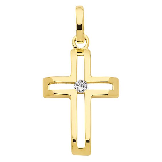 Kreuz Gold 333/GG poliert