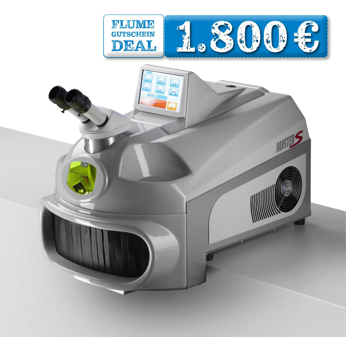 JETZT 1.800€-GUTSCHEIN SICHERN: Kompakt-Schweißlaser Master S 100 mit Mikroskop