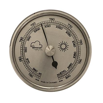 Barometer Einbau-Wetterinstrument Ø 65mm, silber